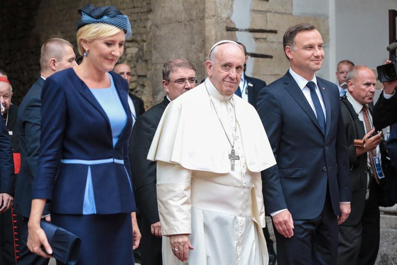 Papież Franciszek z parą prezydencką w Krakowie /ANNA KACZMARZ / DZIENNIK POLSKI /POLSKA PRESS /East News