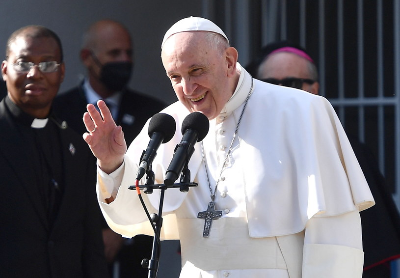 Papież Franciszek z pielgrzymką na Słowacji /LUCA ZENNARO /PAP/EPA