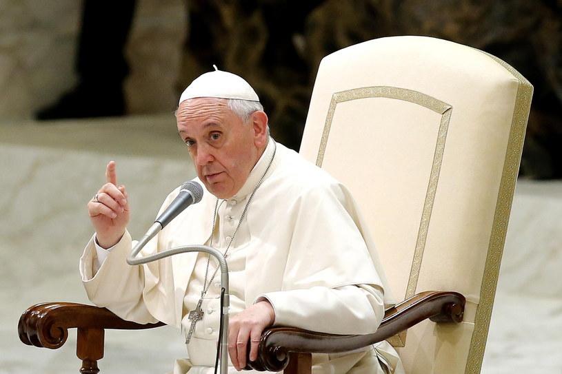 Papież Franciszek. /Fabio Frustaci /PAP/EPA