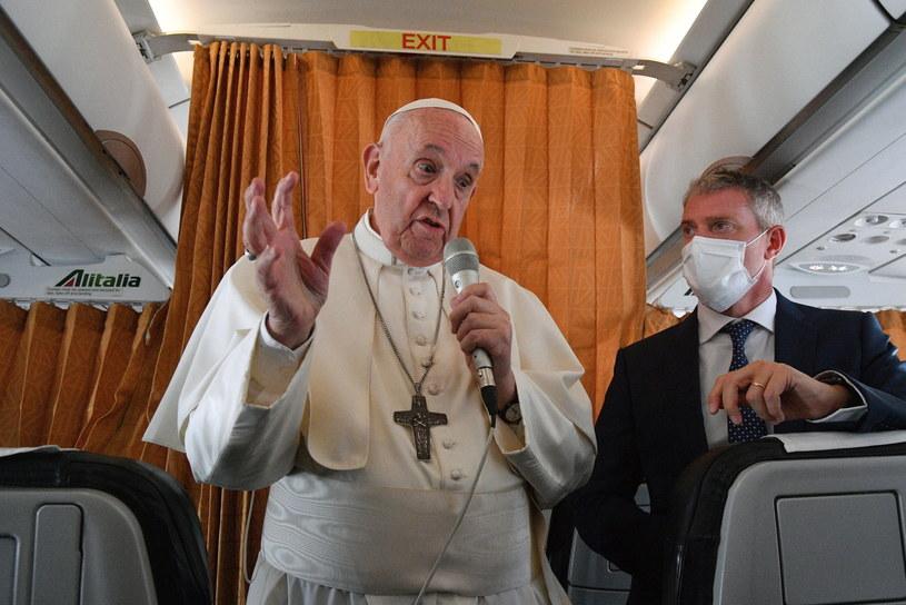 Papież Franciszek /TIZIANA FABI / POOL /PAP/EPA