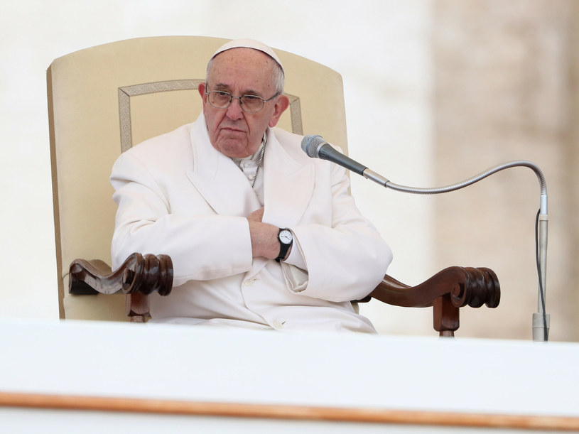 Papież podczas audiencji generalnej /Grzegorz Galazka /East News