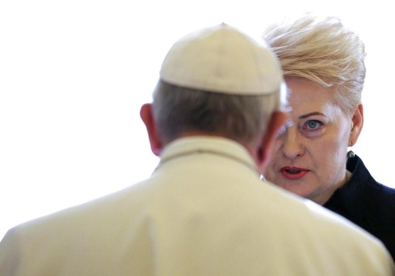 Papież przyjął na audiencji prezydent Litwy /PAP/EPA