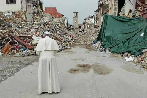 Papież w Amatrice /PAP/EPA/MATTEO GUIDELLI /PAP/EPA