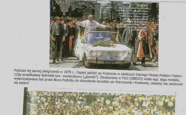 Papież w Dużym Fiacie /INTERIA.PL