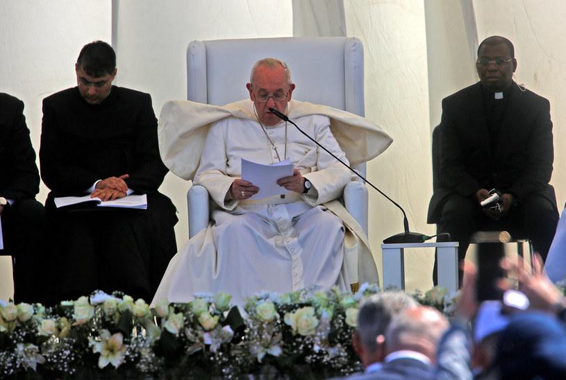 Papież w irackim Ur, biblijnym miejscu narodzin Abrahama /AHMAD AL-RUBAYE /AFP