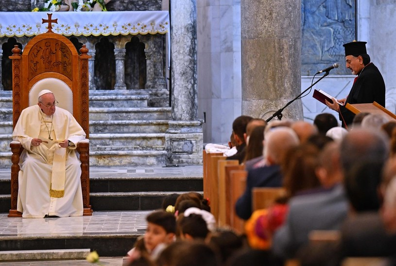 Papież w Mosulu /AFP