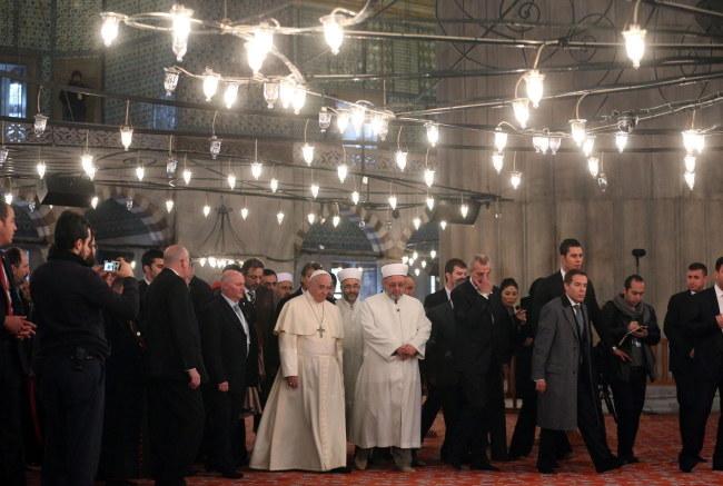 Papież z Wielkim Muftim /ALESSANDRO DI MEO    /PAP/EPA