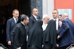 Papież z wizytą u sióstr prezentek