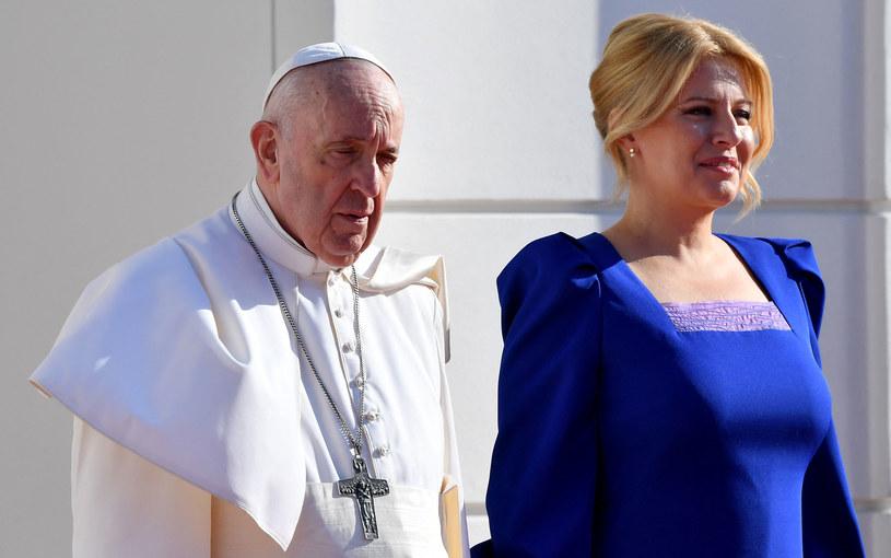 Papieża Franciszka powitała Zuzana Czaputova /AFP