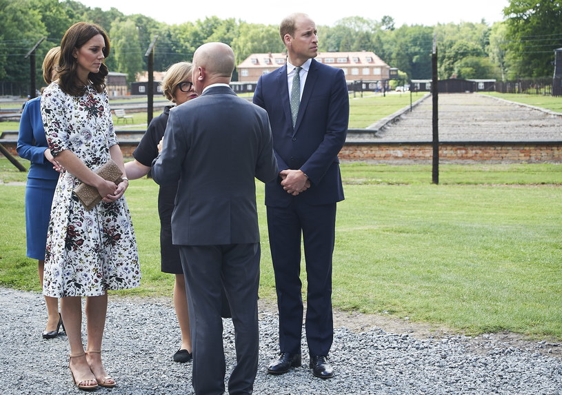 Para książęca Cambridge Kate i William w Stutthof /Dominik Kulaszewicz /PAP