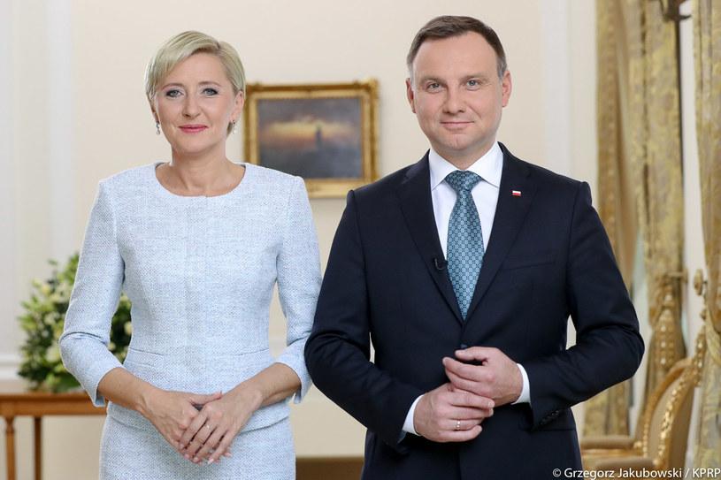 Para prezydencka Agata Kornhauser-Duda i Andrzej Duda /Grzegorz Jakubowski/KPRP /