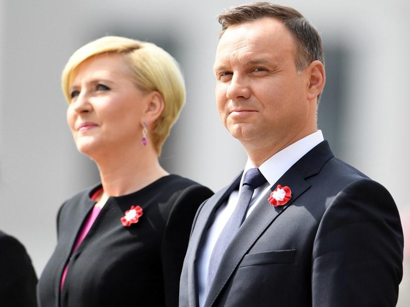 Para prezydencka podczas tegorocznego święta flagi /Maciej Gillert /East News