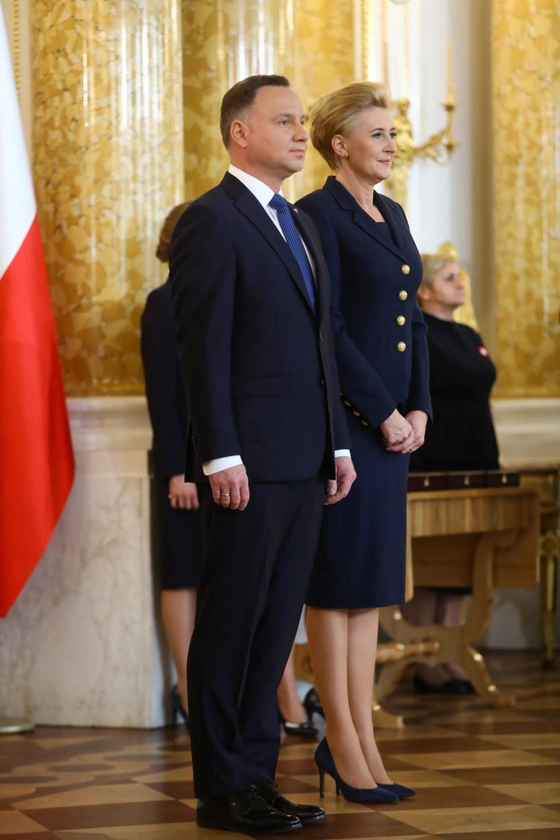Para prezydencka podczas uroczystości wręczenia Orderów Orła Białego /Rafał Guz /PAP