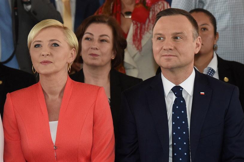 Para prezydencka podczas wizyty w Meksyku /Radek Pietruszka /PAP