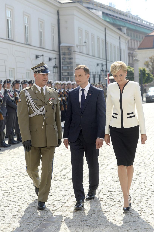 Para prezydencka podczas zaprzysiężenia /Niemiec /AKPA