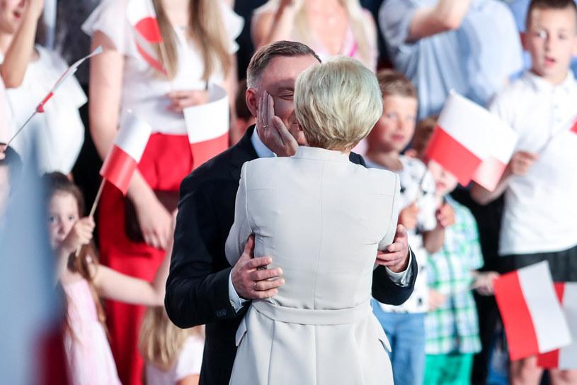 Para prezydencka w czasie wieczoru wyborczego /fot. Andrzej Iwanczuk /Reporter
