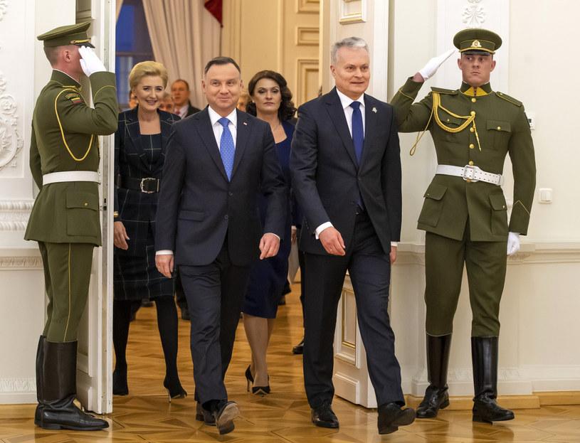Para prezydencka z wizytą na Litwie /Assosiated Press /East News