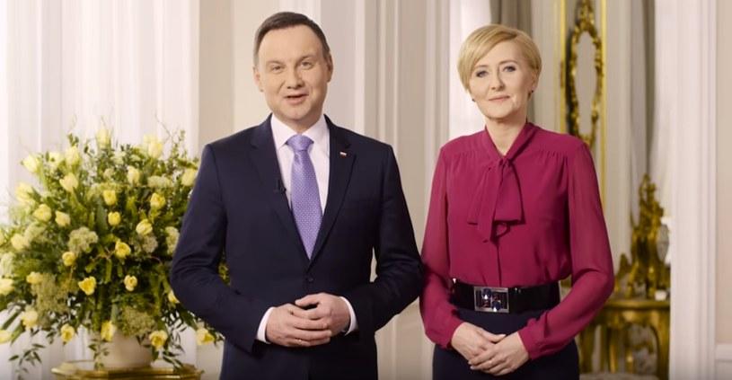 Para prezydencka złożyła Polakom wielkanocne życzenia /YouTube