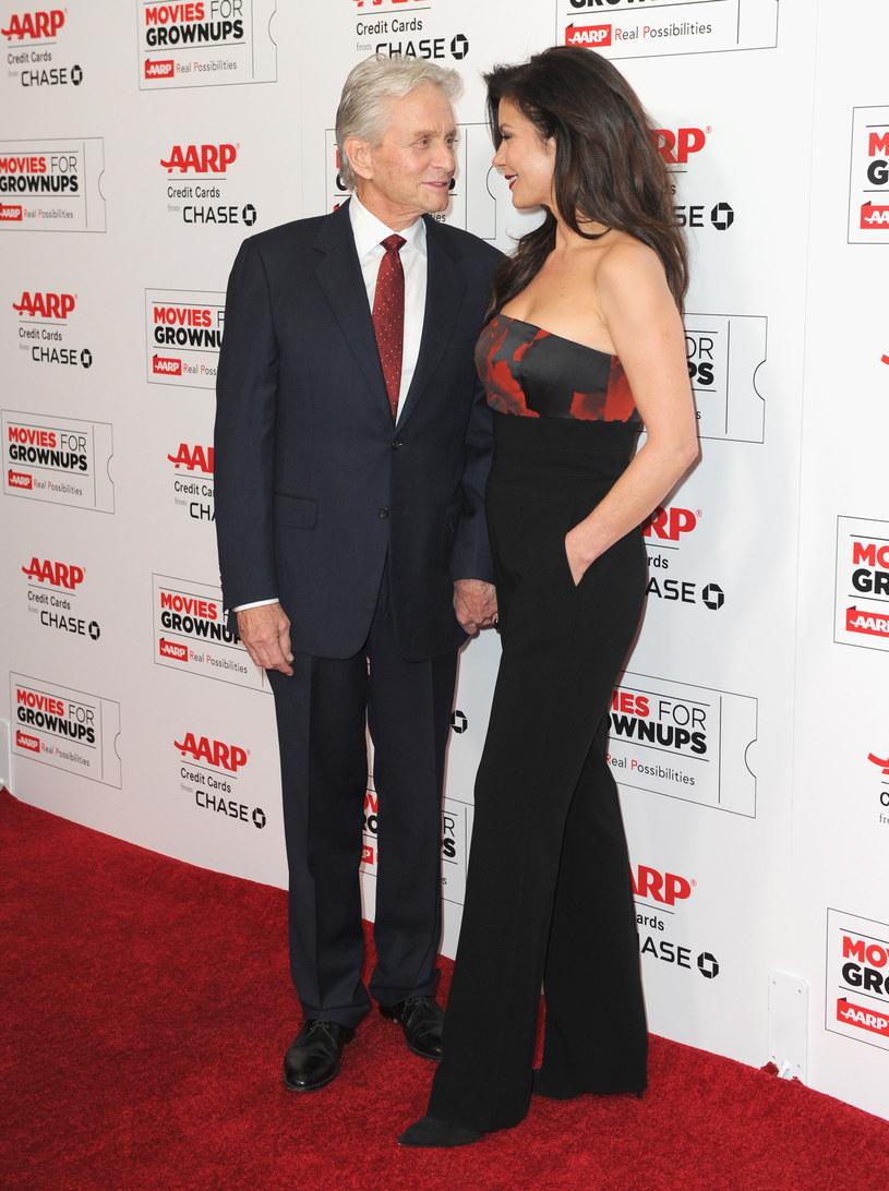 Para promieniała szczęściem na imprezie /Joshua Blanchard /Getty Images