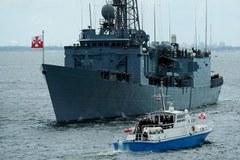 Parada okrętów na zakończenie Święta Morza i Marynarki Wojennej