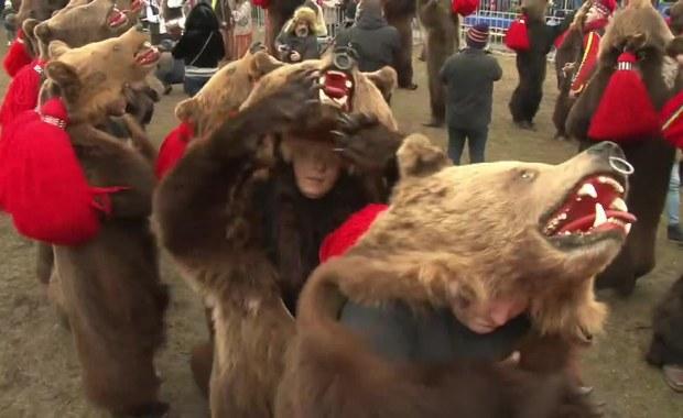 Parada w skórach niedźwiedzi. Rumuni proszą o udany nowy rok