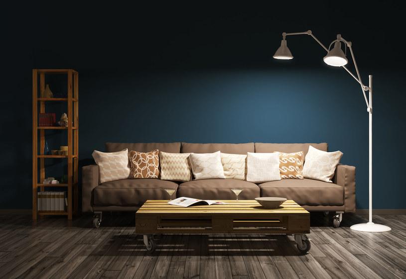 Paradoksalnie, duża kanapa może dobrze wyglądać w niewielkim wnętrzu /123RF/PICSEL
