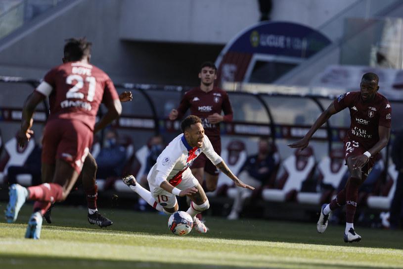 Paris St. Germain w meczu z FC Metz /EXPA    /Newspix