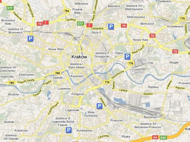 Parkingi w Krakowie/fot. googlemaps.com /