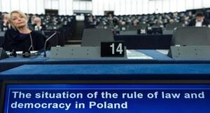 Parlament Europejski zagłosował w sprawie rezolucji o praworządności w Polsce