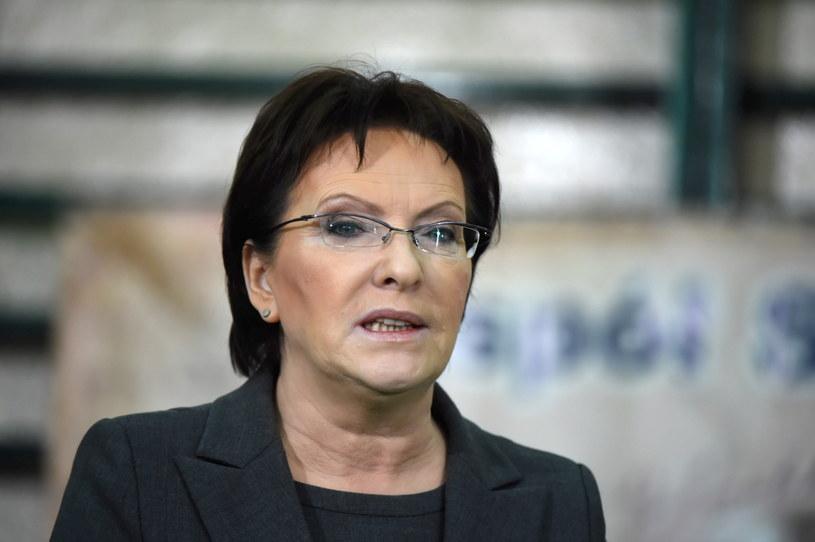Partia Ewy Kopacz prowadzi w sondażach /Grzegorz Michałowski /PAP
