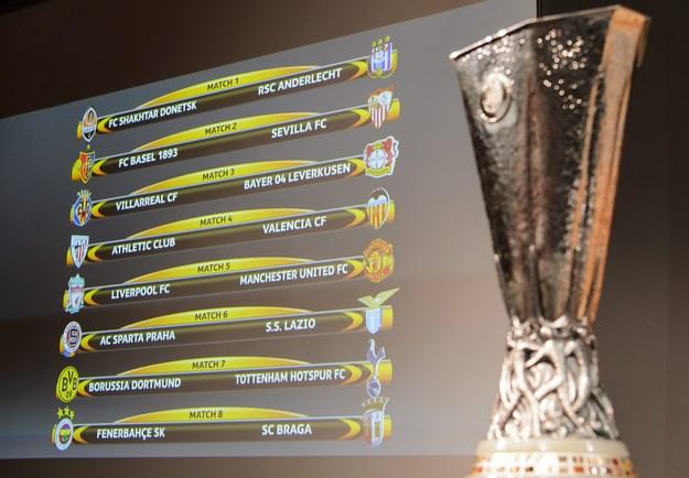 Pary 1/8 finału Ligi Europejskiej /JEAN-CHRISTOPHE BOTT /PAP/EPA