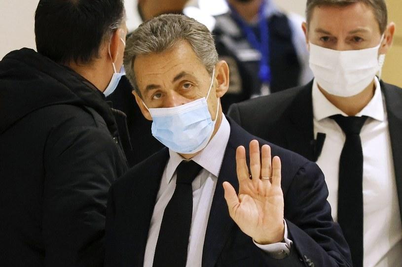 Paryski Trybunał Karny skazał Sarkozy'ego na trzy lata więzienia (PAP/EPA/YOAN VALAT) /PAP