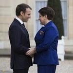 Paryż: Spotkanie Beaty Szydło z Emmanuelem Macronem