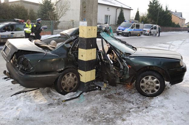 Pasażer auta nie miał żadnych szans... /Policja