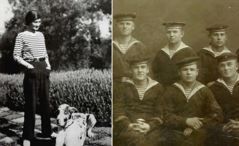 Paski, które wcześniej nosili głównie marynarze i prostytutki do mody wprowadziła Coco Chanel (źródło: domena publiczna). /Ciekawostki Historyczne