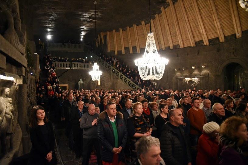 Pasterka w kaplicy św. Kingi w Wieliczce /Fot. Marek Lasyk/REPORTER /East News