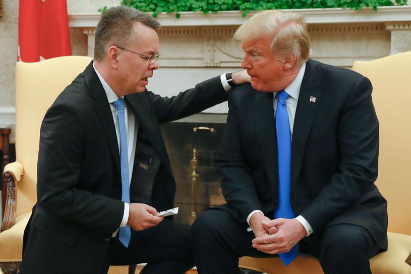 Pastor Andrew Brunson i prezydent Donald Trump /ROBERTO SCHMIDT /AFP
