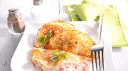 Paszteciki z szynką i serem pleśniowym
