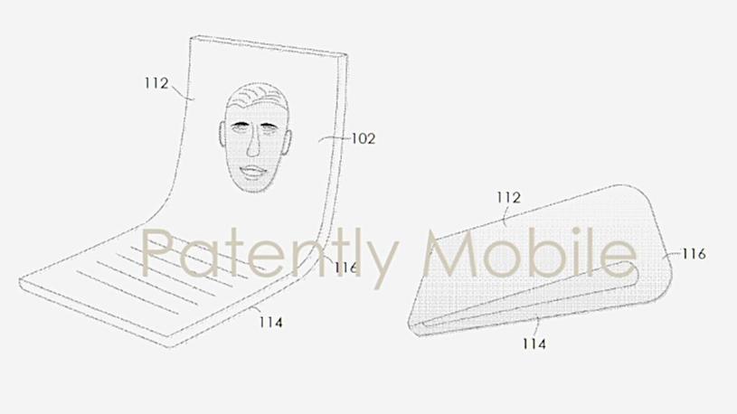 Patent składanego smartfona Google / fot. PatentlyMobile /materiał zewnętrzny