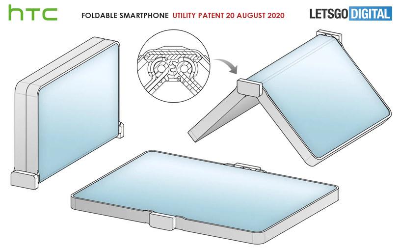 Patent składanego smartfona HTC / fot. Let'sGoDigital /materiał zewnętrzny