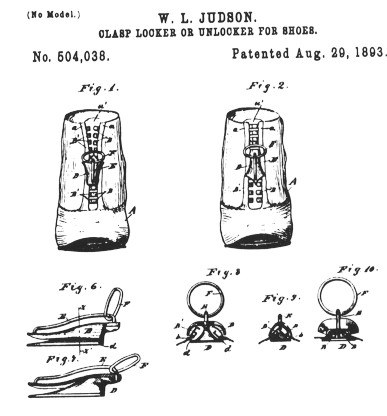 Patent Whitcomba L. Judsona z 1893 r. /Wikipedia /materiały prasowe