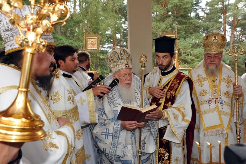 Patriarcha Konstantynopola Bartłomiej I podczas wizyty na Grabarce /LEON STANKIEWICZ/REPORTER /Reporter