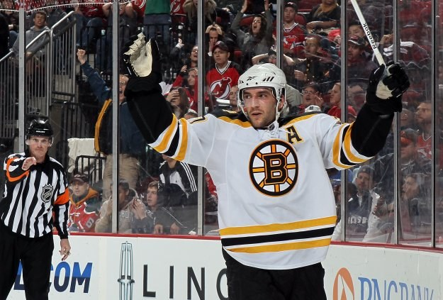 Patrice Bergeron z Boston Bruins /AFP