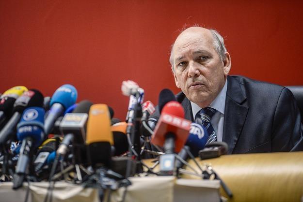 Patrick Quincy odpowiada na pytania dziennikarzy podczas konferencji prasowej /AFP