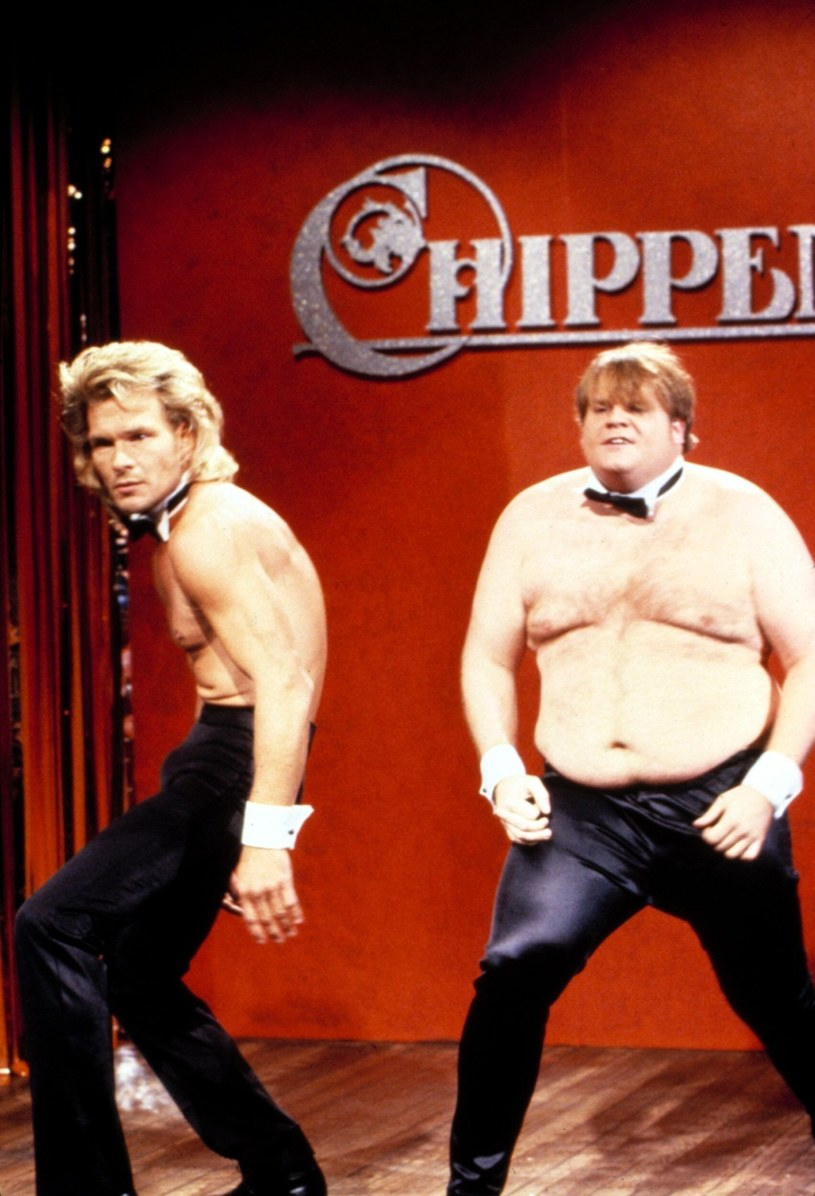 "Patrick Swayze i Chris Farley w ""Saturday Night Live"" /Everett Collection /East News"