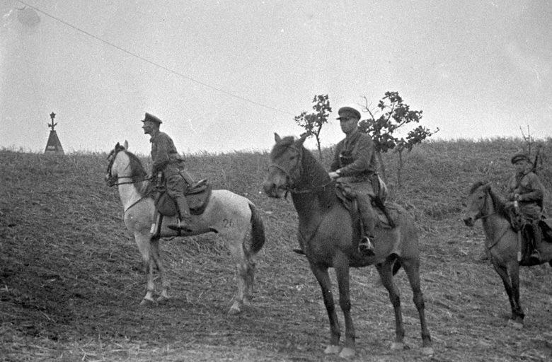 Patrol radzieckich pograniczników w rejonie jeziora Chasan, 1938 rok /Domena publiczna /INTERIA.PL/materiały prasowe