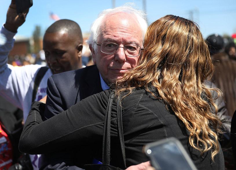 Patron lewego skrzydła - Bernie Sanders /AFP