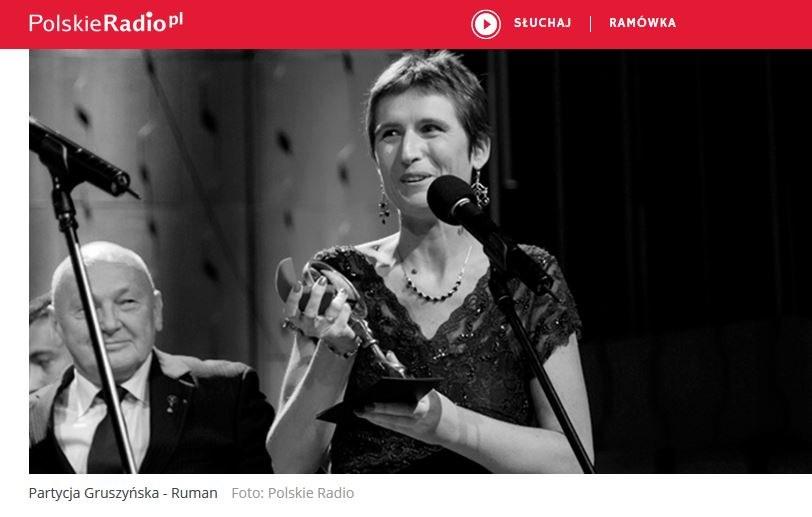 Patrycja Gruszyńska-Ruman /źródło: www.polskieradio.pl /