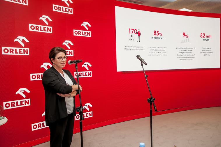 Patrycja Klarecka, członek zarządu ds. sprzedaży detalicznej PKN Orlen, fot. Ireneusz Rek /INTERIA.PL