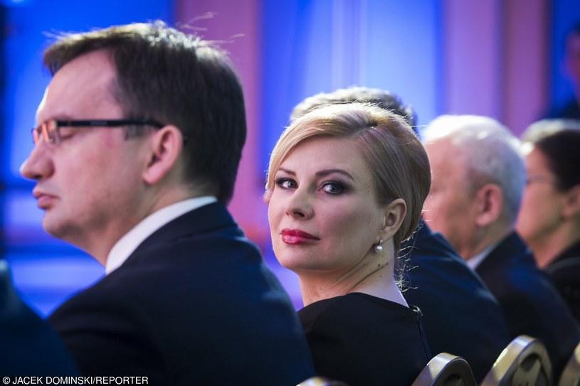 Patrycja Kotecka i Zbigniew Ziobro /Jacek Dominski/REPORTER /Reporter